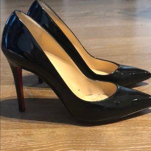 Louboutin Pigalle black patent leather pumps!